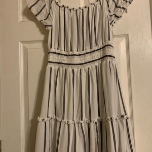 American Eagle blue and white striped dress!!
